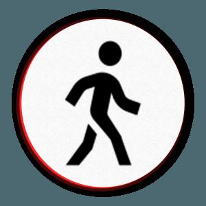 Icon of a man walking