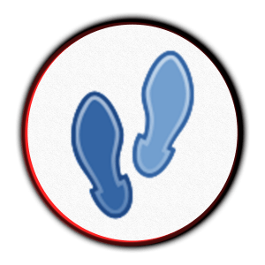 Two footsteps icon for beginners in running.