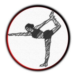 icon of a flexing woman doing a yoga pose
