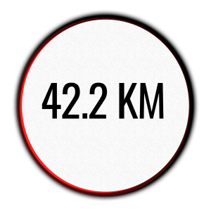 icon of a 42.2 km race - Marathon